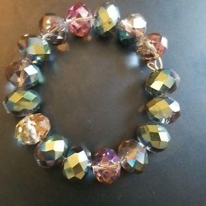 Super chunky glass AB bracelet